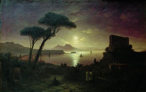 paint nite bay the bay of naples at moonlit painting ivan