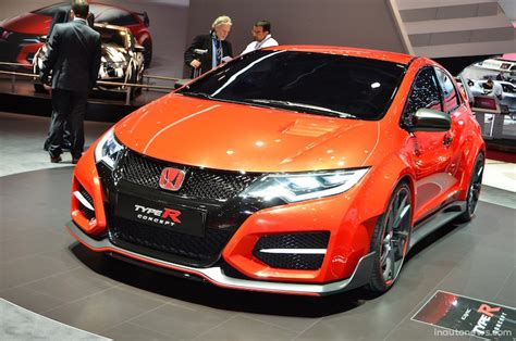 honda civic type r orange honda civic type r concept photos and info news car
