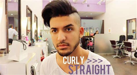 keratin hair treatment for men curly to straight men s keratin hair tutorial youtube