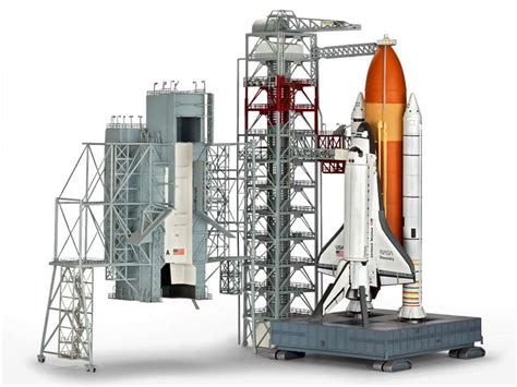 Aubeau Lightening Mask 1 144 revell germany launch tower space shuttle with