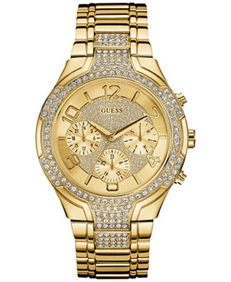 guess s accent gold tone stainless steel