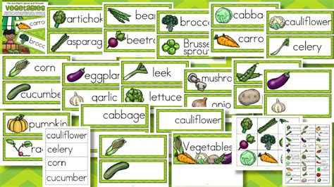 vegetables 2 words vegetables word wall vocabulary and pictures