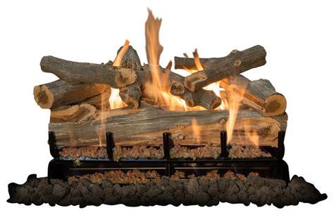 battery operated fireplace logs 30 quot arizona juniper logs 3 burner traditional