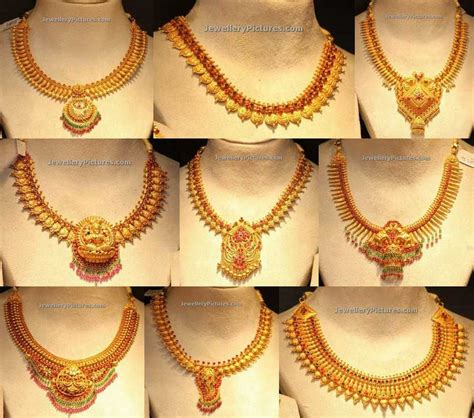 gold indian pattern best latest long necklace catalog contemporary jewelry