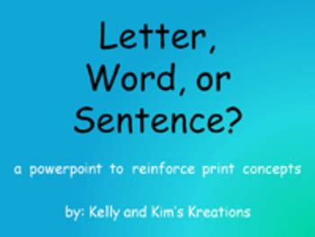 sentence patterns multiple choice letter word or sentence powerpoint concepts of print