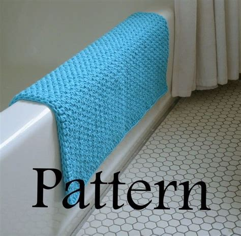 Mat Pattern by Pattern Peacock Blue Bath Mat Crochet Designers