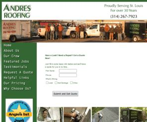 andres roofing st louis mo andresroofing roofing contractors st louis roofers