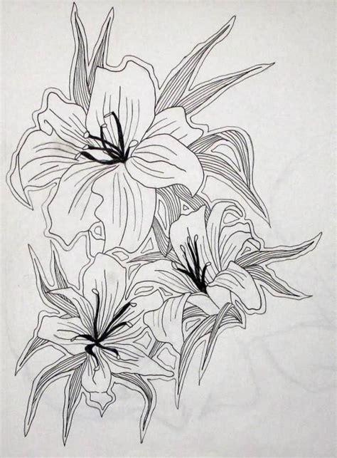 the true guide to tiger lily tattoos you black ink lilies outline design truetattoos
