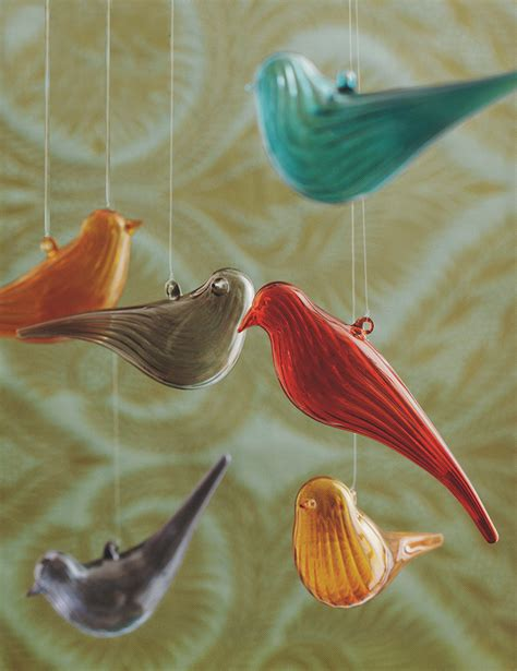 bird tree ornaments tree decorations glass birds decorating