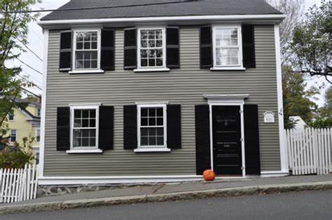 exterior house colors on black shutters house and white trim