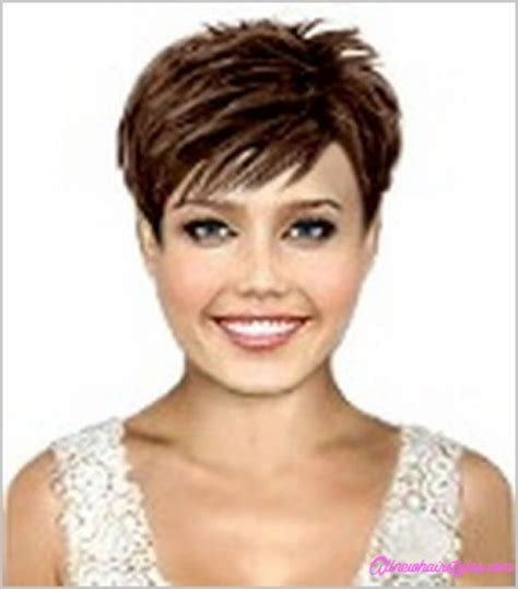 short hair styles with bangs and wisps of hair on the side short wispy haircuts no bangs allnewhairstyles com