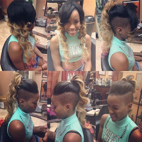 sew in mohawk custom colored rihanna inspired versatile mohawk sew in