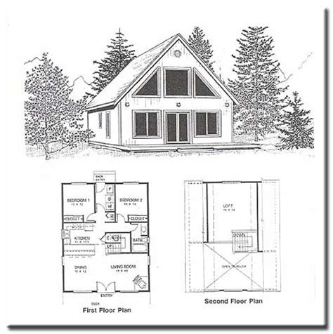 cabin with loft floor plans 2 bedroom cabin plans with loft