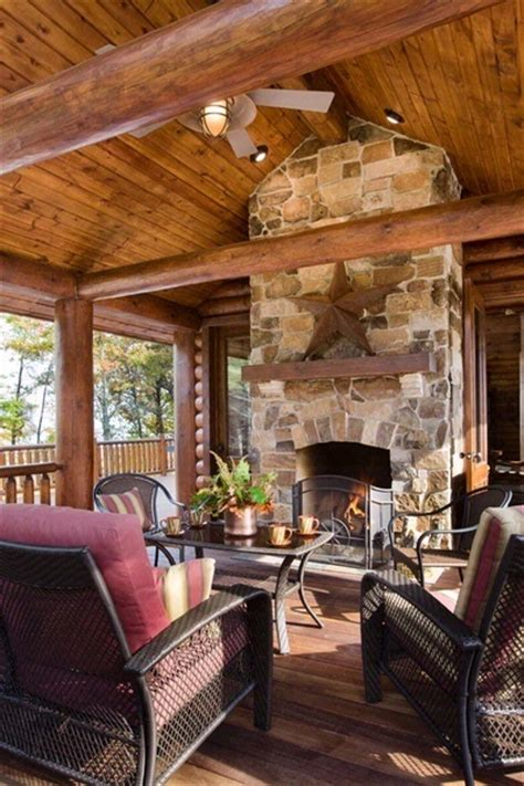 screen porch fireplace my future home