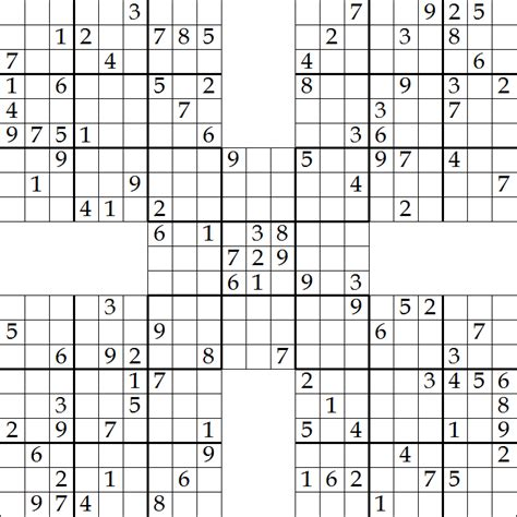 printable samurai sudoku hard samarai sudoku related keywords samarai sudoku long tail