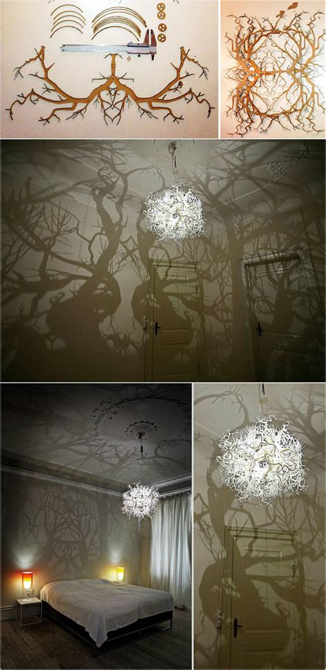 Chandelier That Turns Your Room Into A Forest 30 Diy Light Fixtures You Can Make With Household Items Pondic