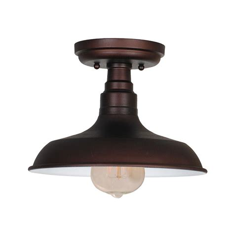 design house lighting products design house kimball 1 light textured coffee bronze indoor ceiling mount 519884 the home depot