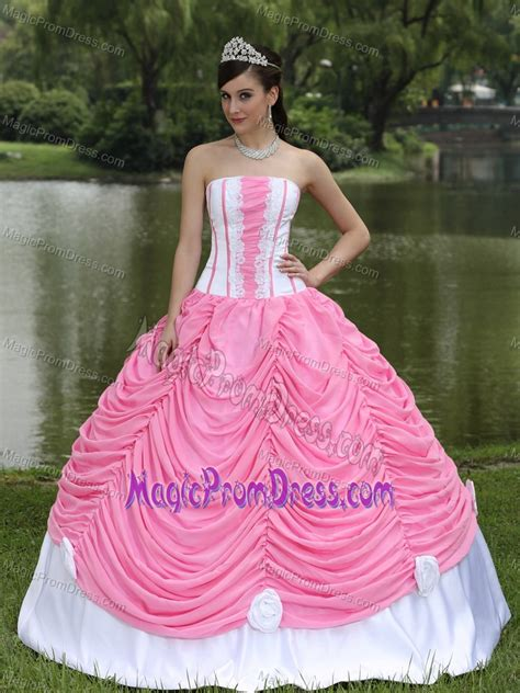 dress design for js prom latest white and pink strapless a line dresses for prom