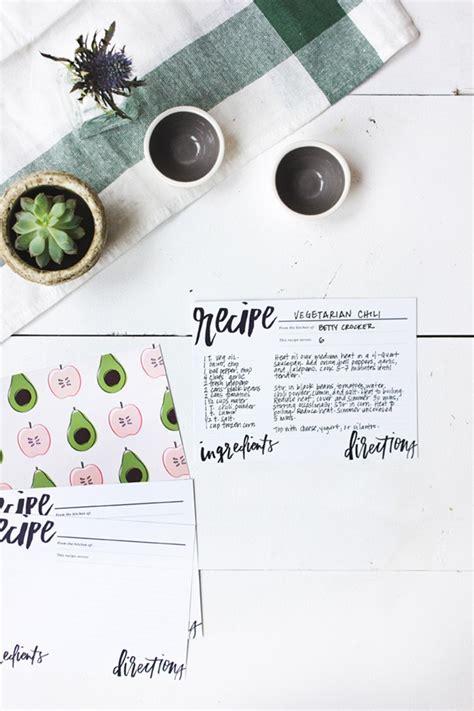 Beautiful Printable Recipe Cards | beautiful free recipe cards