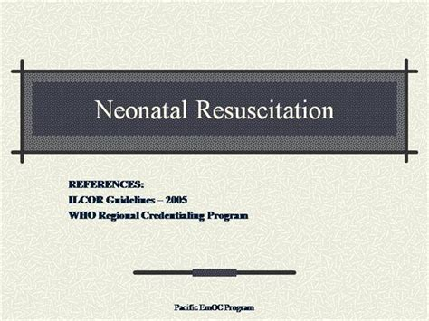 Nrp Card Template by Neonatal Resuscitation Authorstream