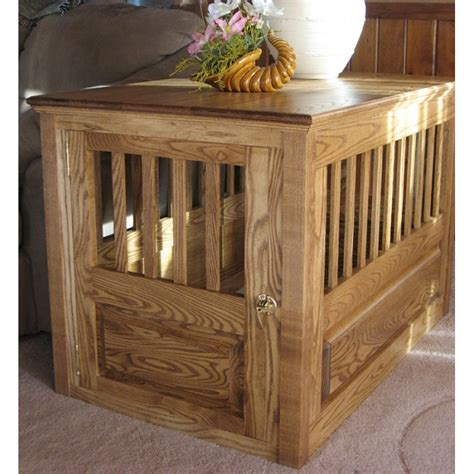 large dog kennel end table dog crate nightstand amazoncom casual home pet crate end