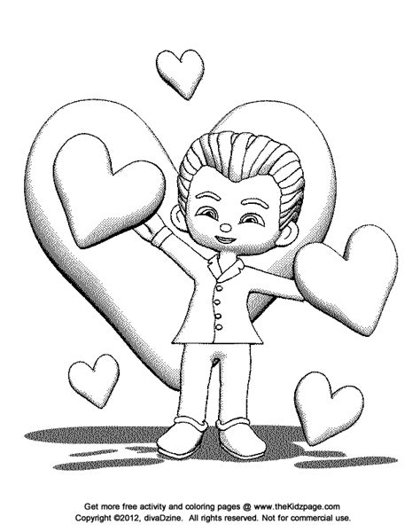 Valentines Day Coloring Pages For Boys D Az Coloring Valentines Coloring Pages For Boys