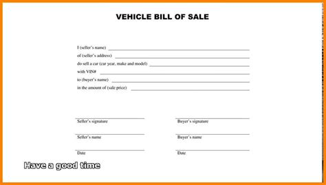 sle car bill of sale bill of sale form free for vehicle property free