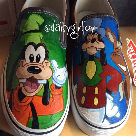 disney shoes for adults vans brand custom painted disney goofy slip on