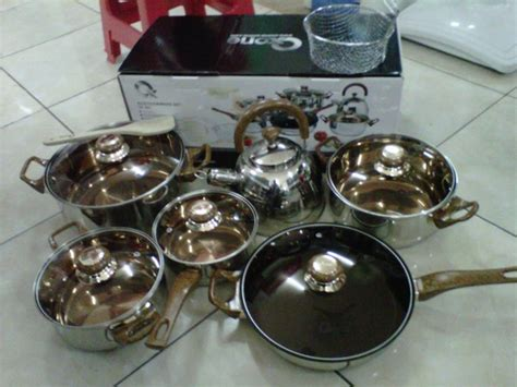 Obral Murah Panci Set Oxone Ox 933 panci masak stainles steel ox 933 eco cooware set oxone cookingpan premium supra