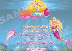 1727 Kid Mermaid Merah the sea birthday invitation printable glitter mermaid birthday invitation mermaid