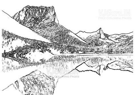coloring pages landscapes mountains free printable landscape coloring pages for adults