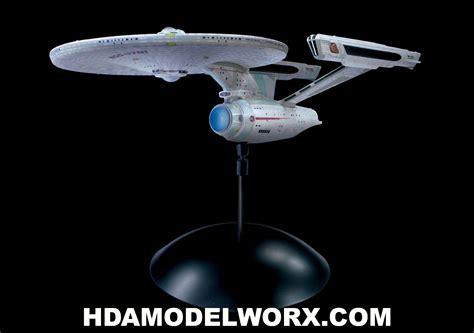 starship enterprise model with lights star trek uss enterprise ncc 1701 refit 1 1000 scale model