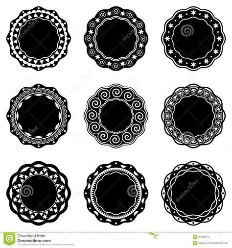 imagenes vintage redondas etiquetas redondas del vintage ilustraci 243 n del vector