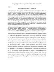 describing a person essay examples