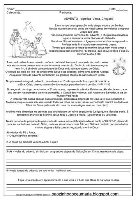 Atividades para imprimir do Advento e Natal - Sou Catequista