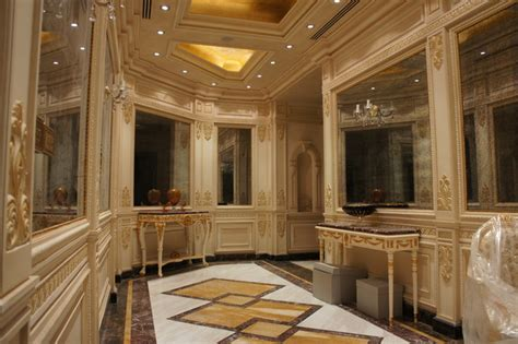 Specialty Sinks by Luxury Marble Floor Design In Hall Way