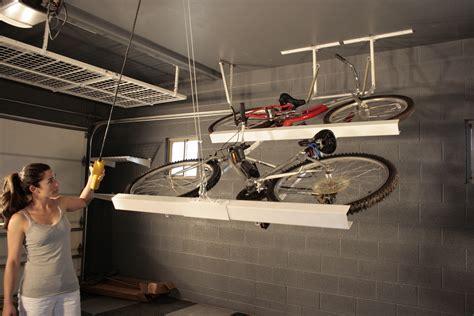 Garage Ceiling Bike Rack by Storage Racks Motorized Storage