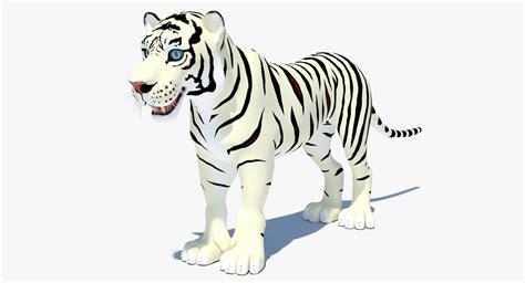 cartoon white white tiger cartoon