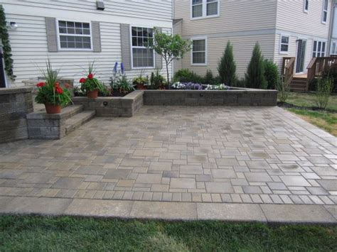 Patio Pavers Designs Backyard Paver Patio Landscaping Ideas Pinterest Raised Beds Planters And Decks