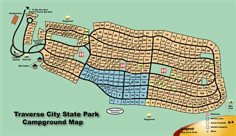 state city map traverse city state park and traverse city