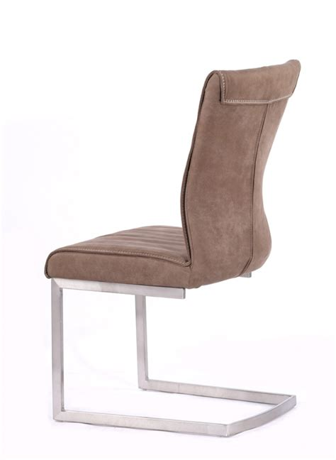 Brown Fabric Dining Chairs 532 89 Zane Modern Brown Fabric Dining Chair Set Of 2 D2d Furniture Store