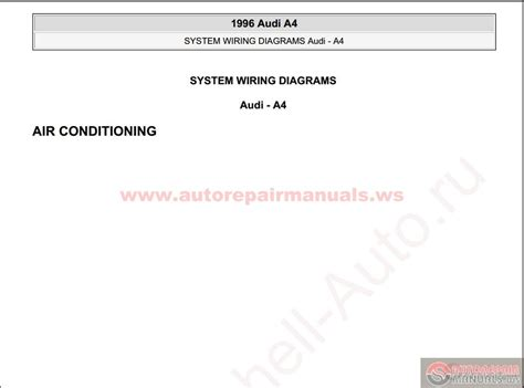 audi a4 1996 system wiring diagrams auto repair manual