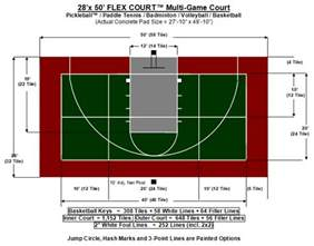the gallery for gt backyard basketball court dimensions half court