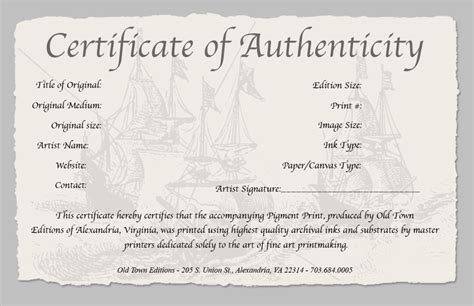 authenticity certificate template certificate of authenticity template peerpex