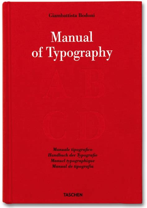 typography manual bodoni manual of typography manuale tipografico 1818 taschen books