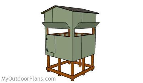 Elevated Deer Blind Plans Free deer blind plans free outdoor plans diy shed wooden