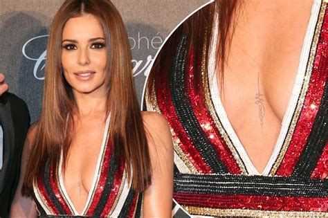 Small Bath Designs is cheryl s cleavage tattoo real star shows off intricate