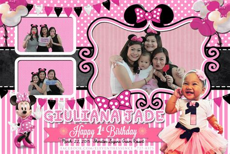 photo layout for photobooth minnie mouse photo booth layout post card size 4x6