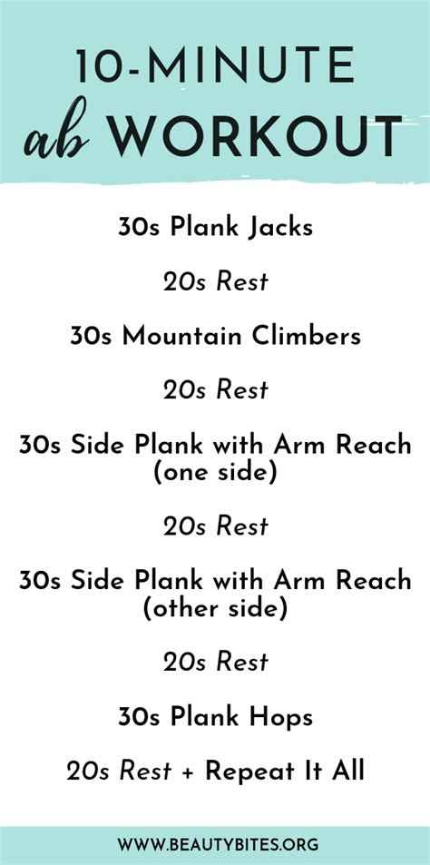 home ab workout  women    minutes beauty