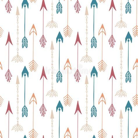 seamless arrow pattern seamless pattern of vintage arrow hand drawn arrows